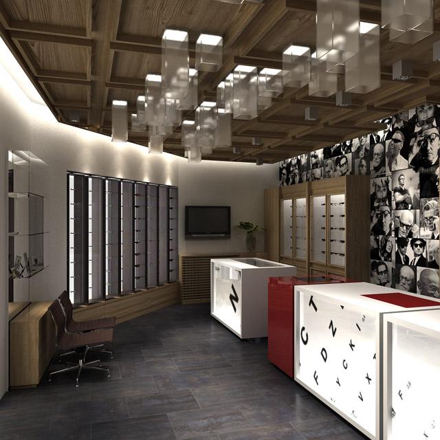 OTTICA OCCHI<br> Standort: Bormio, Italien<br> Typ: vorläufiges und ausführendes Design<br>